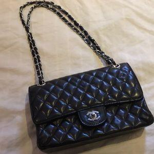 Beautiful black quilted handbag